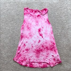 Tie Dye Pink Tank Top From AE